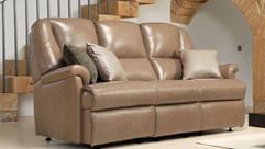 Sherborne Milburn Leather 3 Seater Sofa | Gordon Busbridge Furniture & Beds Store | Hastings, Eastbourne, St Leonards on Sea, Bexhill & Seaford