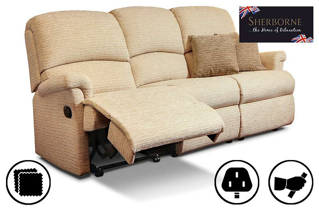 Sherborne Nevada Small 3 Seater Recliner Sofa