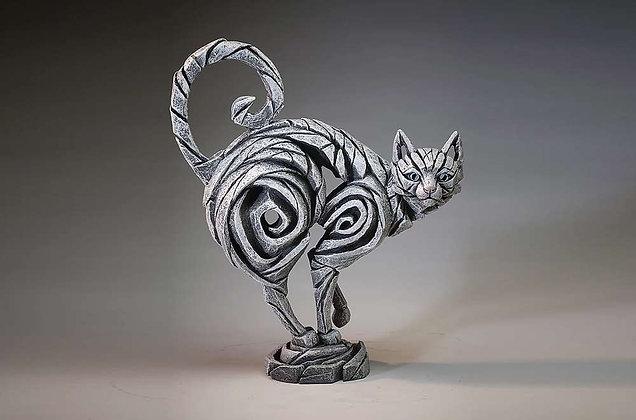 Edge Sculpture Cat Figure - White