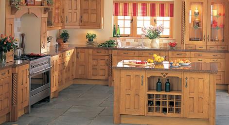 Marpatt Classic Collection - Old Barn Crossbar roomset in Oak