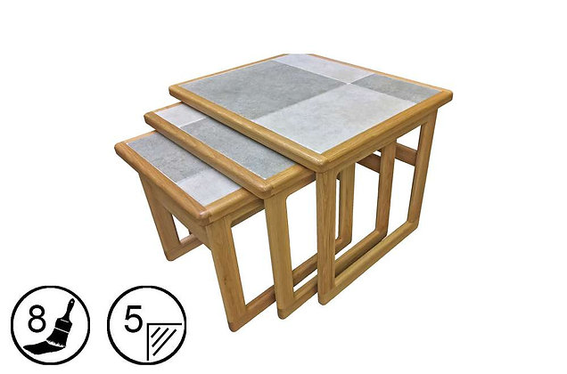 Hanley Large Nest of 3 Tables - Tile Top