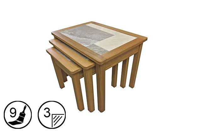 Trentham Nest of 3 Tables - Tile Top