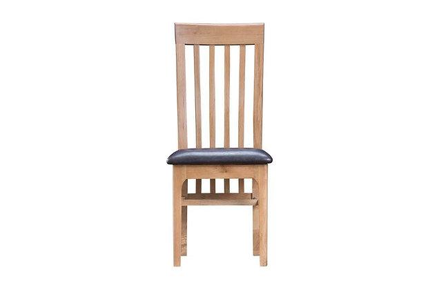 Bentham Slat Back Dining Chair PU Seat