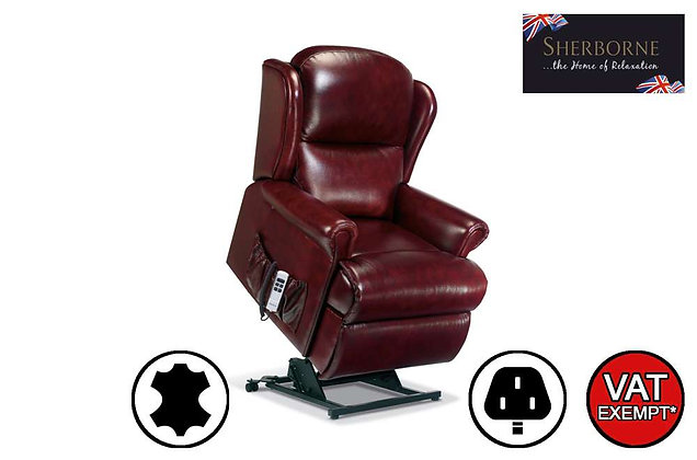 Sherborne Malvern Leather Standard Lift & Rise Care Recliner Chair