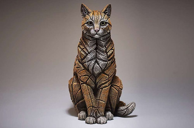 Edge Sculpture Sitting Cat Figure - Ginger