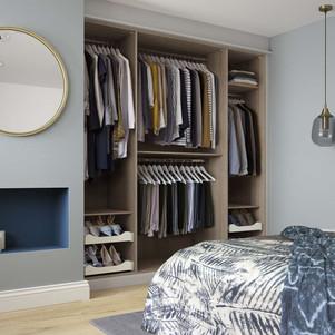 Hepplewhite Milan wardrobe interior