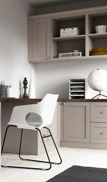 Hepplewhite Milton Home Office Roomset in Light Praline and Dark Pine