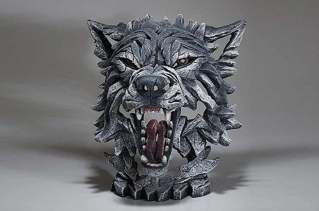 Edge Sculpture Wolf Bust - Grey