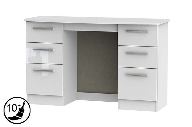 Loire 6 Drawer Kneehole Dressing Table