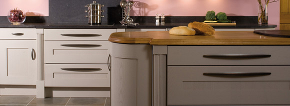 Marpatt Classic Collection - Mowbray in Painted Oak, island detail