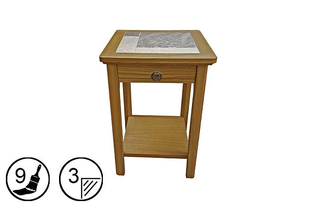 Trentham Mini Lamp Table - Tile Top