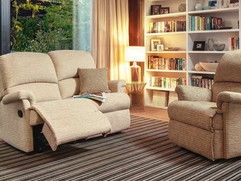 Sherborne Nevada Fabric 2 Seater Recliner Sofa & Small Armchairs | Gordon Busbridge Furniture | Hastings, Eastbourne, Seafrod, Bexhill, St Leonards on Sea