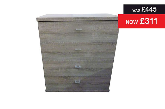 Miami 4 Drawer Wide Chest