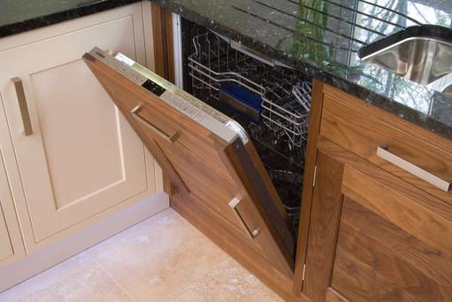 Marpatt Bespoke In-frame Collection - Monarch in Horizontal Walnut (dishwasher detail)
