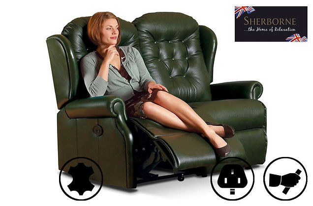 Sherborne Lynton Leather 2 Seater Recliner Sofa