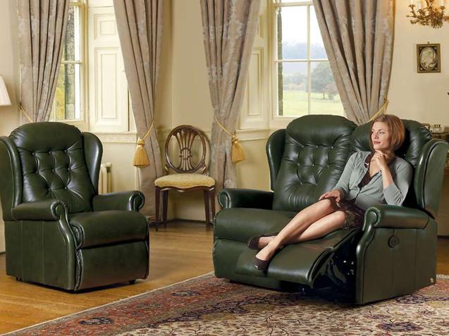 Sherborne Lynton Leather 2 Seater Recliner Sofa & Armchair   Gordon Busbridge Furniture   Hastings, Eastbourne, Seafrod, Bexhill, St Leonards on Sea