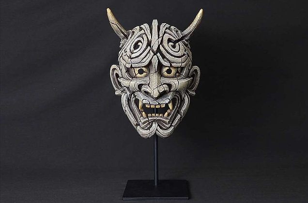 Edge Sculpture Japanse Hannya Mask - White