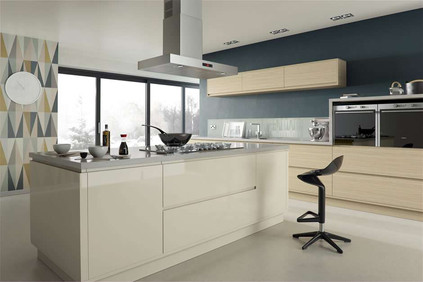 Marpatt Contemporary Collection - Airo in Alabaster Gloss and Natural Oak