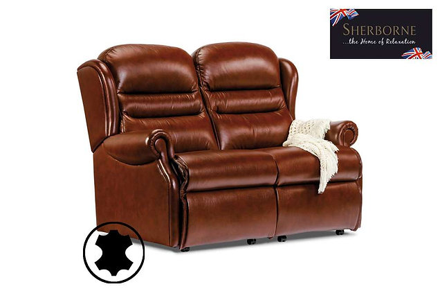 Sherborne Ashford Leather Small 2 Seater Sofa