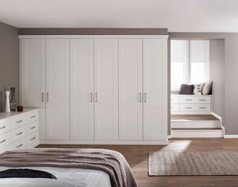 Hepplewhite Kingsbury wardrobe run in White