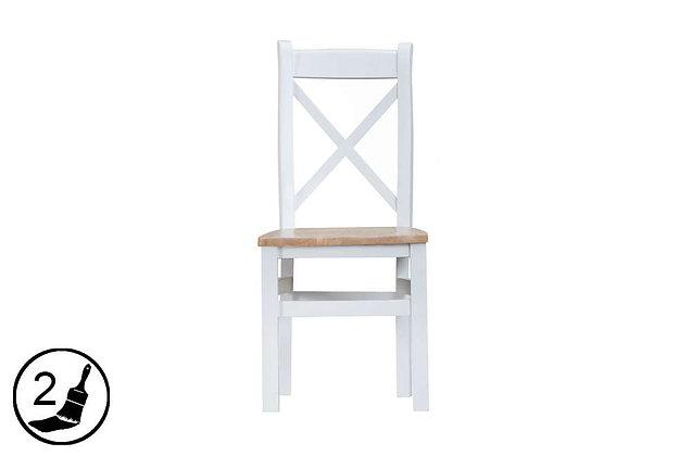 Settle Cross Back Chair Wooden Seat