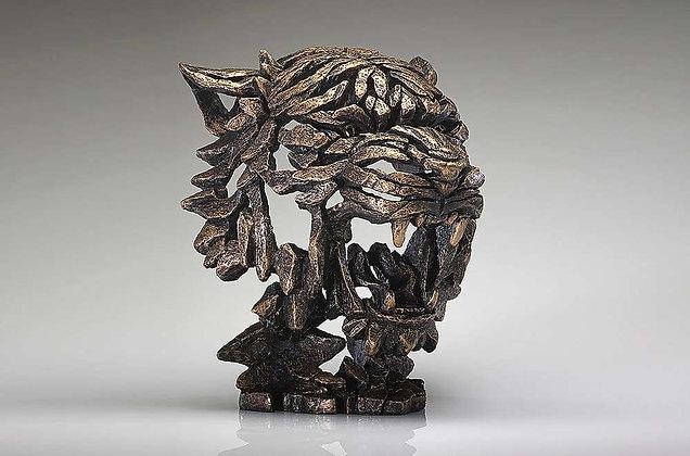 Edge Sculpture Tiger Bust - Golden