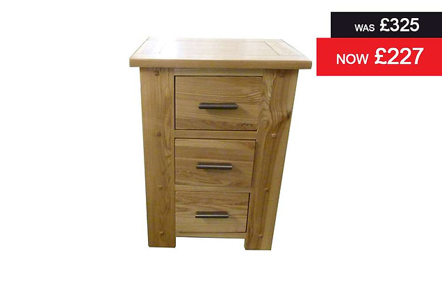 Antibes 3 Drawer Bedside Chest