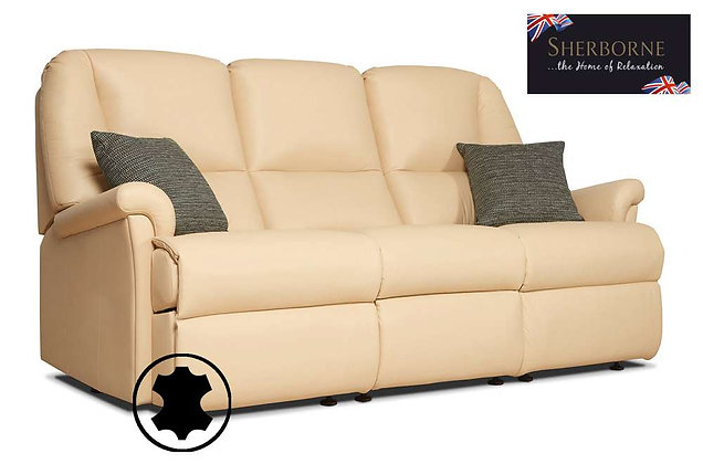 Sherborne Milburn Leather 3 Seater Sofa