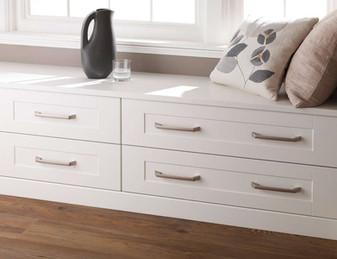 Hepplewhite Kingsbury low chests in White