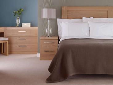 Hepplewhite Linear bedside in Light Oak veneer