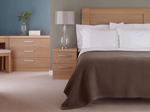 Hepplewhite Linear bedside in Light Oak veneer