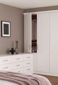 Hepplewhite Kingsbury wardrobe, chest combination in White