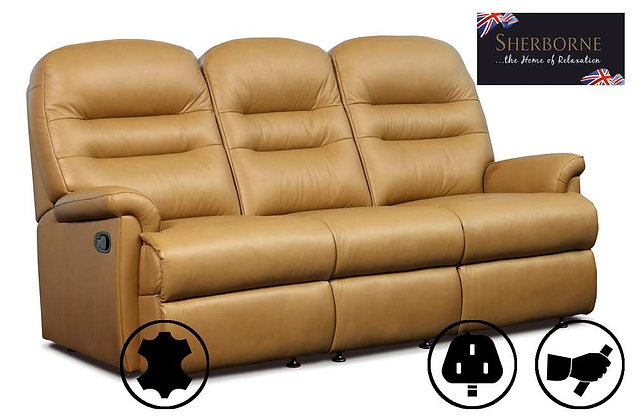 Sherborne Keswick Leather 3 Seater Recliner Sofa