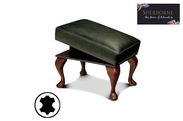 Sherborne Leather Legged Footstool