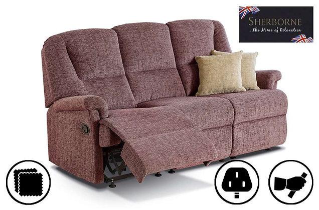 Sherborne Milburn Small 3 Seater Recliner Sofa