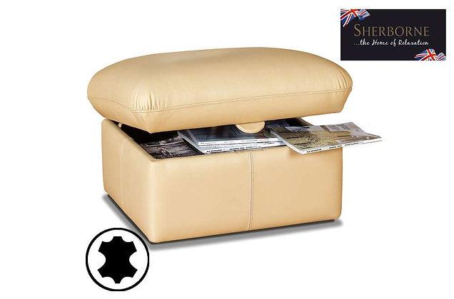 Sherborne Leather Storage Footstool