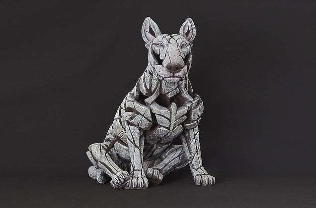 Edge Sculpture Bull Terrier Figure - White