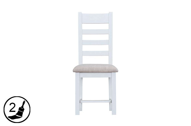 Settle Ladder Back Chair Fabric Seat