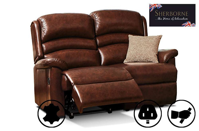 Sherborne Olivia Leather 2 Seater Recliner Sofa