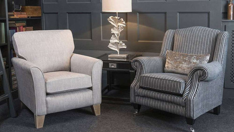 Versailles Fabirc Accent chair & Fabric Wing Chair | Gordon Busbridge Furniture & Beds Store | Hastings, Eastbourne, St Leonards on Sea, Bexhill & Seaford
