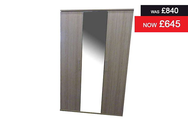 Breeze 3 Door Centre Mirror Wardrobe