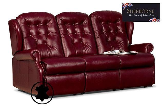 Sherborne Lynton Leather Small 3 Seater Sofa
