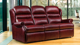 Sherborne Ashford Leather 3 Seater Sofa | Gordon Busbridge Furniture & Beds Store | Hastings, Eastbourne, St Leonards on Sea, Bexhill & Seaford
