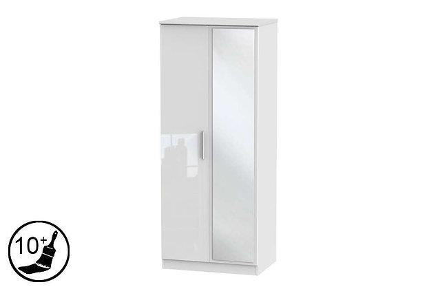Loire 2 Door Double Wardrobe with Mirror