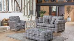 Monaco 2 Seater Sofa, Accent Chair & Ottoman