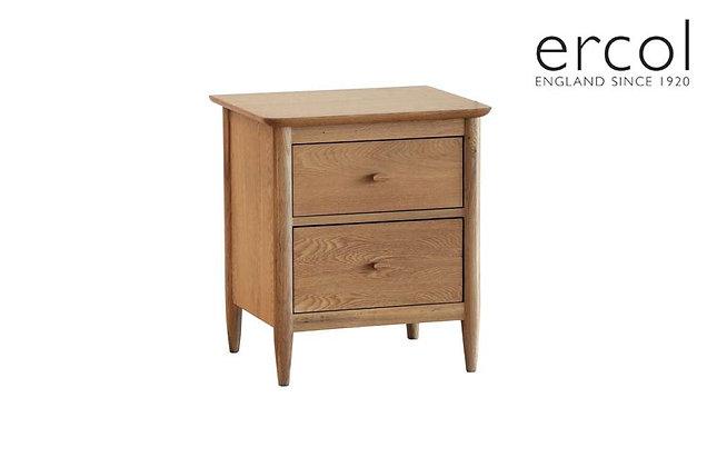 Ercol Teramo 2 Drawer Bedside Table