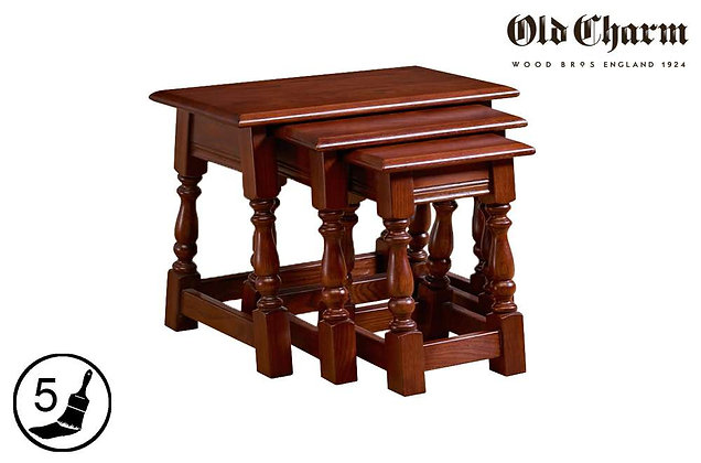 Old Charm Nest of 3 Tables