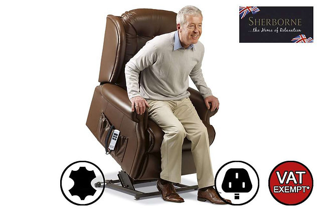 Sherborne Lynton Leather Royale Lift & Rise Care Recliner Chair