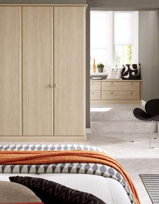Hepplewhite Milan wardrobes in Aragon Oak