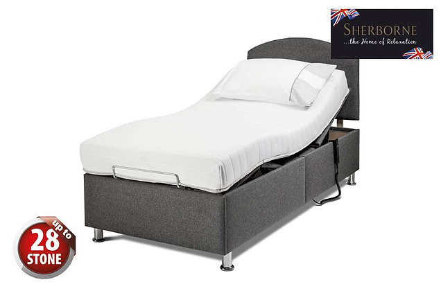 Sherborne Hampton 90cm Single Head & Foot Adjustable Divan Bed